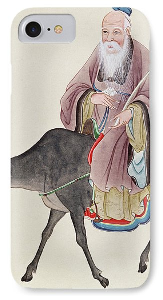 Lao Tzu On His Buffalo IPhone Case by Chinese School
