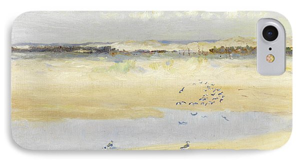 Lapwings By The Sea IPhone 7 Case by William James Laidlay
