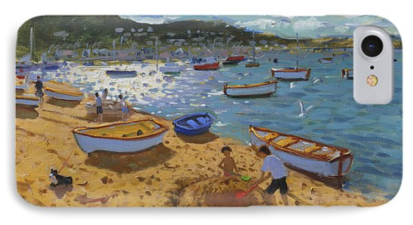 Large Sandcastle Teignmouth IPhone Case by Andrew Macara