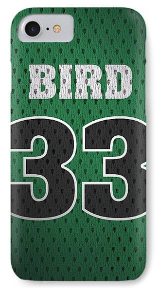 Larry Bird Boston Celtics Retro Vintage Jersey Closeup Graphic Design IPhone 7 Case by Design Turnpike