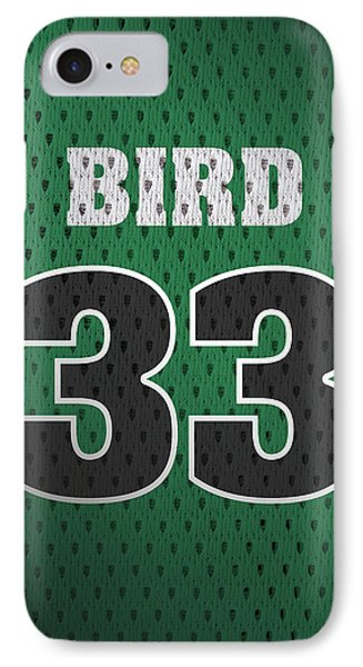Larry Bird Boston Celtics Retro Vintage Jersey Closeup Graphic Design IPhone Case by Design Turnpike