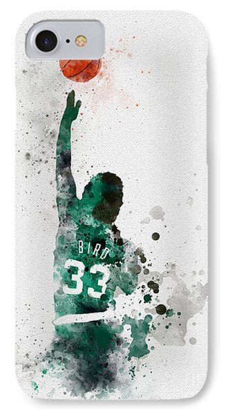 Larry Bird IPhone 7 Case by Rebecca Jenkins