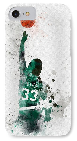 Larry Bird IPhone Case by Rebecca Jenkins