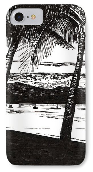 Late Afternoon At Dunk Island IPhone Case by Monica Hudson