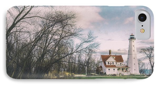 Late Afternoon At The Lighthouse IPhone Case by Scott Norris