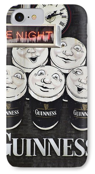 Late Night Guinness Limerick Ireland IPhone 7 Case by Teresa Mucha