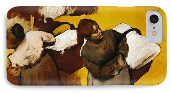 Laundresses IPhone Case by Edgar Degas