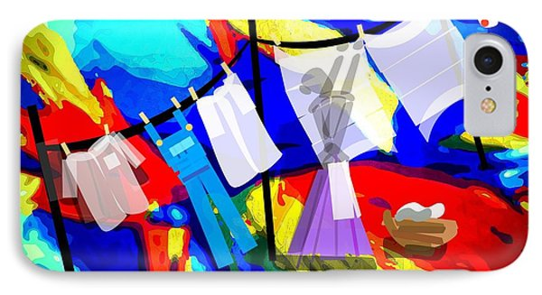 Laundry Day IPhone Case by Larry Lamb