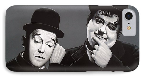 Laurel And Hardy IPhone 7 Case by Paul Meijering