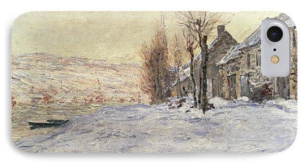 Lavacourt Under Snow IPhone Case by Claude Monet
