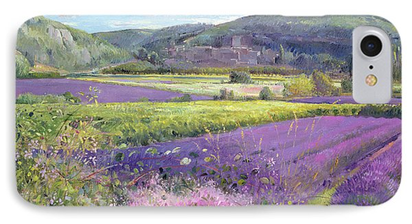 Lavender Fields In Old Provence Phone Case by Timothy Easton