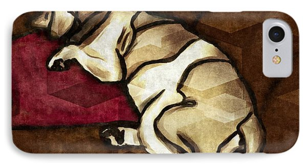 Lazy Hound IPhone Case by Vincent White