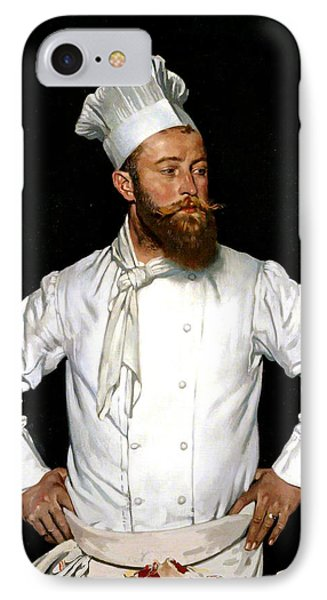 Le Chef De L'hotel Chatham IPhone Case by William Orpen