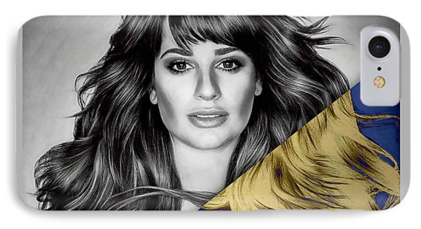 Lea Michele Collection IPhone Case by Marvin Blaine