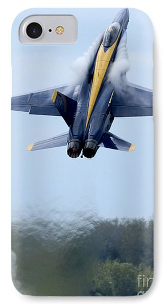 Lead Solo Pilot Of The Blue Angels IPhone Case by Stocktrek Images