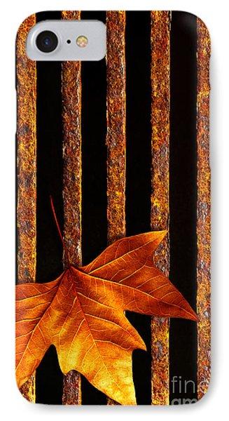 Leaf In Drain IPhone Case by Carlos Caetano