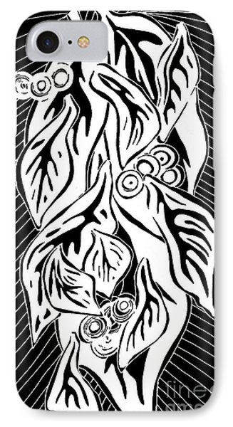 Leaves 3 IPhone Case by Sarah Loft