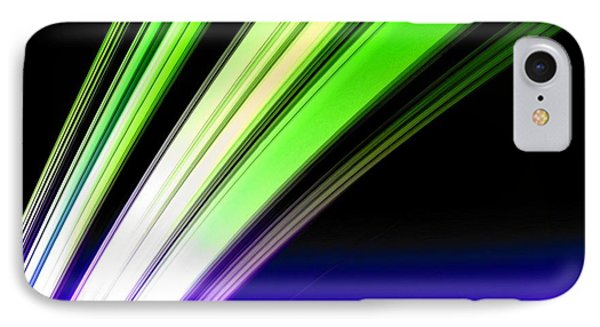 Leaving Saturn In Cobalt And Lime Phone Case by Pet Serrano