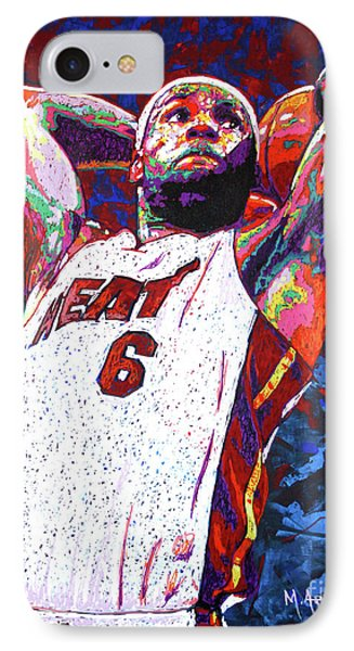 Lebron Dunk IPhone Case by Maria Arango
