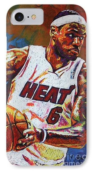 Lebron James 3 IPhone Case by Maria Arango