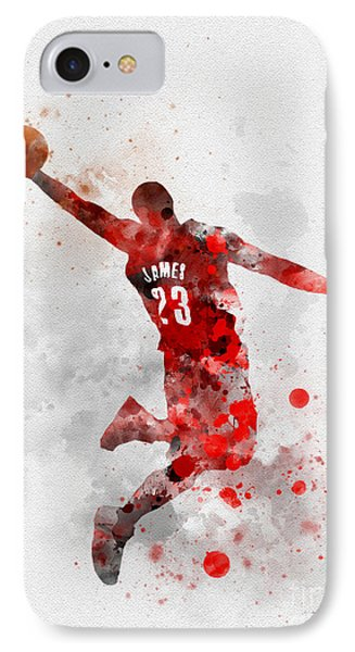 Lebron James IPhone 7 Case by Rebecca Jenkins