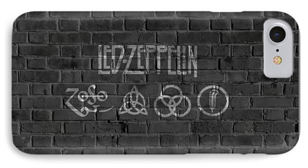 Led Zeppelin Brick Wall IPhone 7 Case by Dan Sproul