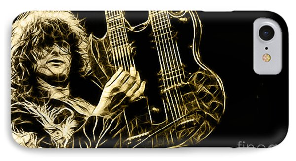 Led Zeppelin Jimmy Page IPhone Case by Marvin Blaine