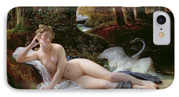 Leda And The Swan IPhone Case by Francois Edouard Picot