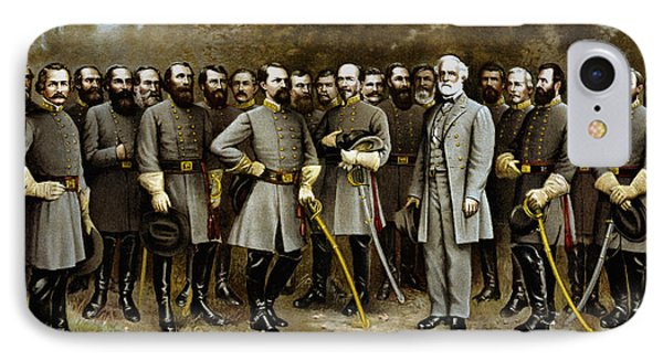 Robert E. Lee And His Generals IPhone Case by War Is Hell Store