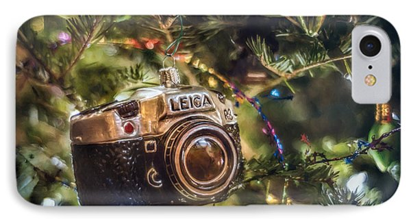 Leica Christmas IPhone Case by Scott Norris