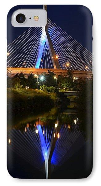 Lenny Zakim Bridge Reflection Boston Ma IPhone Case by Toby McGuire