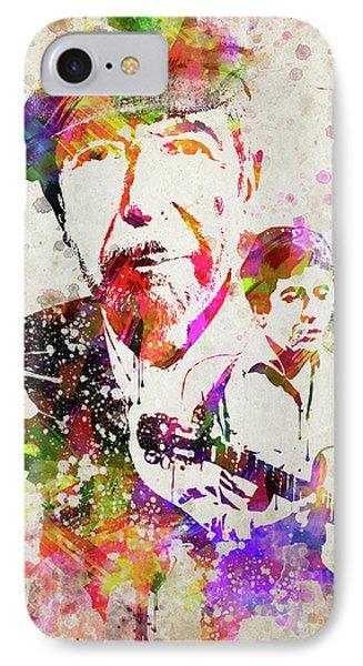 Leonard Cohen Color IPhone Case by Aged Pixel
