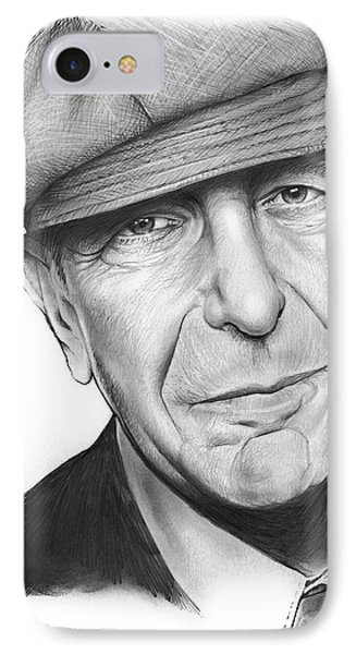 Leonard Cohen IPhone Case by Greg Joens