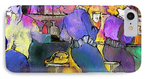Les Filles Du Cafe De La Nuit IPhone Case by Miki De Goodaboom