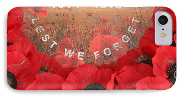 IPhone Case featuring the photograph Lest We Forget - 1914-1918 by Travel Pics