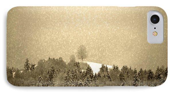 Let It Snow - Winter In Switzerland IPhone Case by Susanne Van Hulst