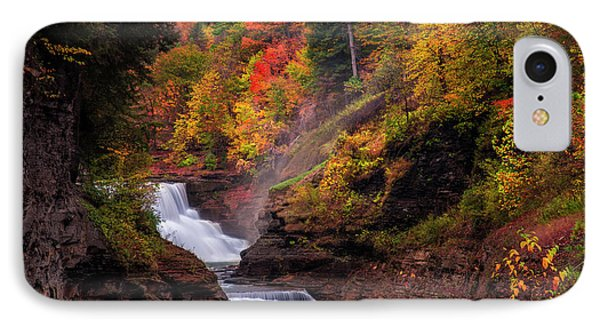 Letchworth Lower Falls 2 IPhone Case by Mark Papke