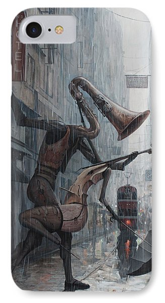 Life Is  Dance In The Rain IPhone 7 Case by Adrian Borda
