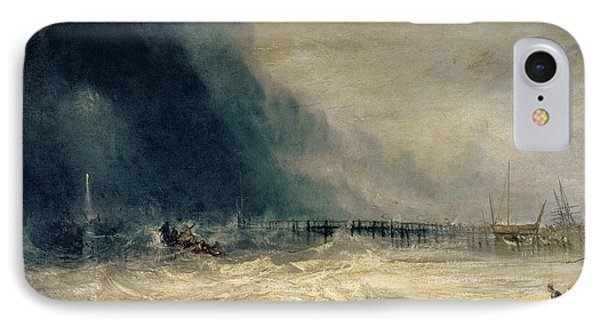 Lifeboat And Manby Apparatus Going Off To A Stranded Vessel Making Signal Of Distress Phone Case by Joseph Mallord William Turner