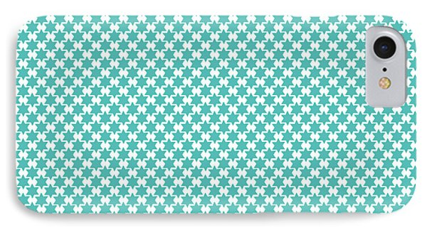 Light Blue Star Of David- Art By Linda Woods IPhone Case by Linda Woods