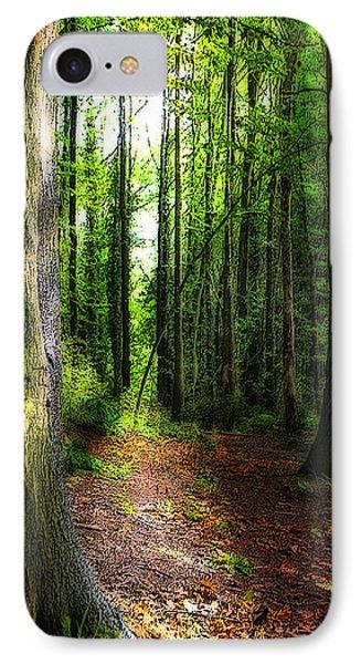 Light Through The Trees Phone Case by Meirion Matthias