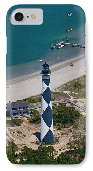 Lighthouse From Above IPhone Case by Betsy Knapp