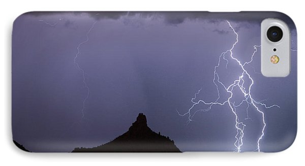 Lightnin At Pinnacle Peak Scottsdale Arizona Phone Case by James BO  Insogna