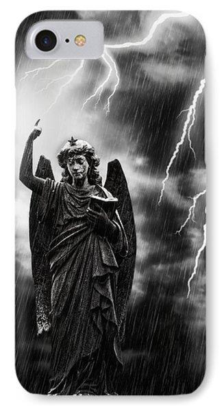 Lightning Strikes The Angel Gabriel IPhone Case by Amanda Elwell