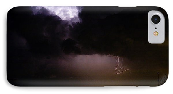 Lightning Thunderstorm Cell 08-15-10 Phone Case by James BO  Insogna