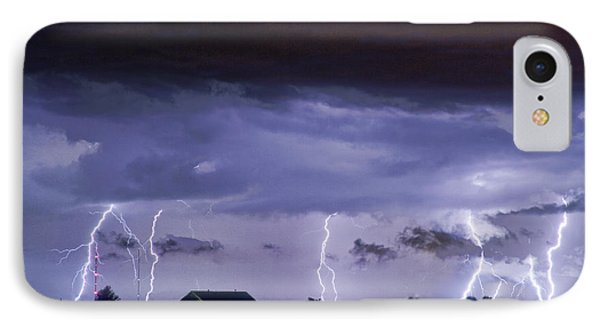 Lightning Thunderstorm July 12 2011 Strikes Over The City IPhone Case by James BO  Insogna