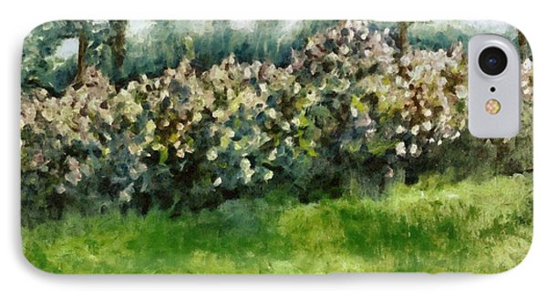 Lilac Bushes In Springtime Phone Case by Michelle Calkins