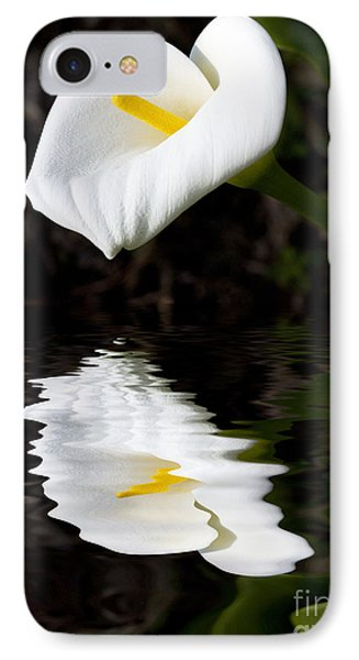 Lily Reflection IPhone Case by Avalon Fine Art Photography
