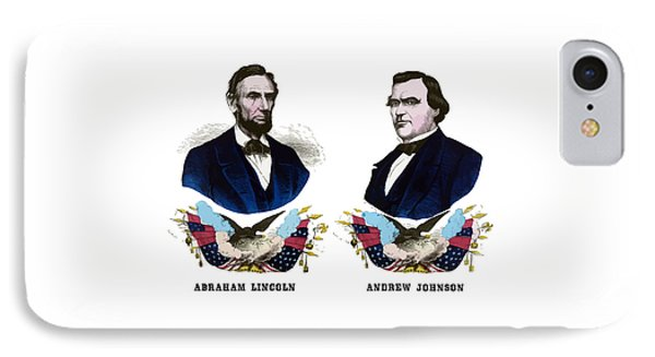 Lincoln And Johnson Campaign Poster IPhone Case by War Is Hell Store
