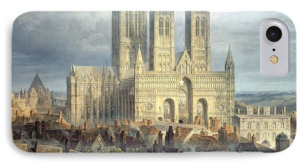 Lincoln Cathedral From The North West IPhone Case by Frederick Mackenzie